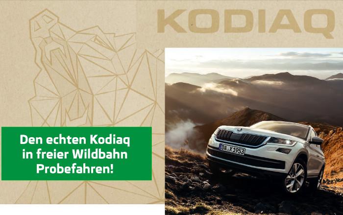 Premierenveranstaltung am 04. März von 10.00 – 16.00 Uhr.  Neues Terrain entdecken mit dem neuen Skoda Kodiaq  und dem neuen Skoda Octavia.