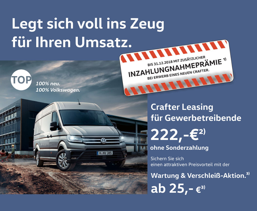 Crafter Inzahlungnahme
