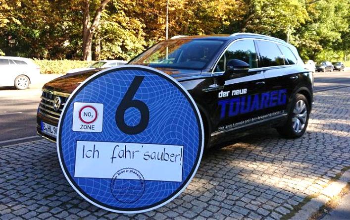 Die Blaue Plakette vom Autohaus Laatzig für Euro-6d-TEMP Fahrzeuge