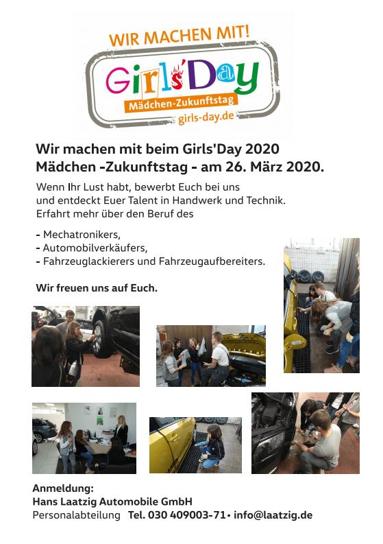 Girls Day 2020 Details