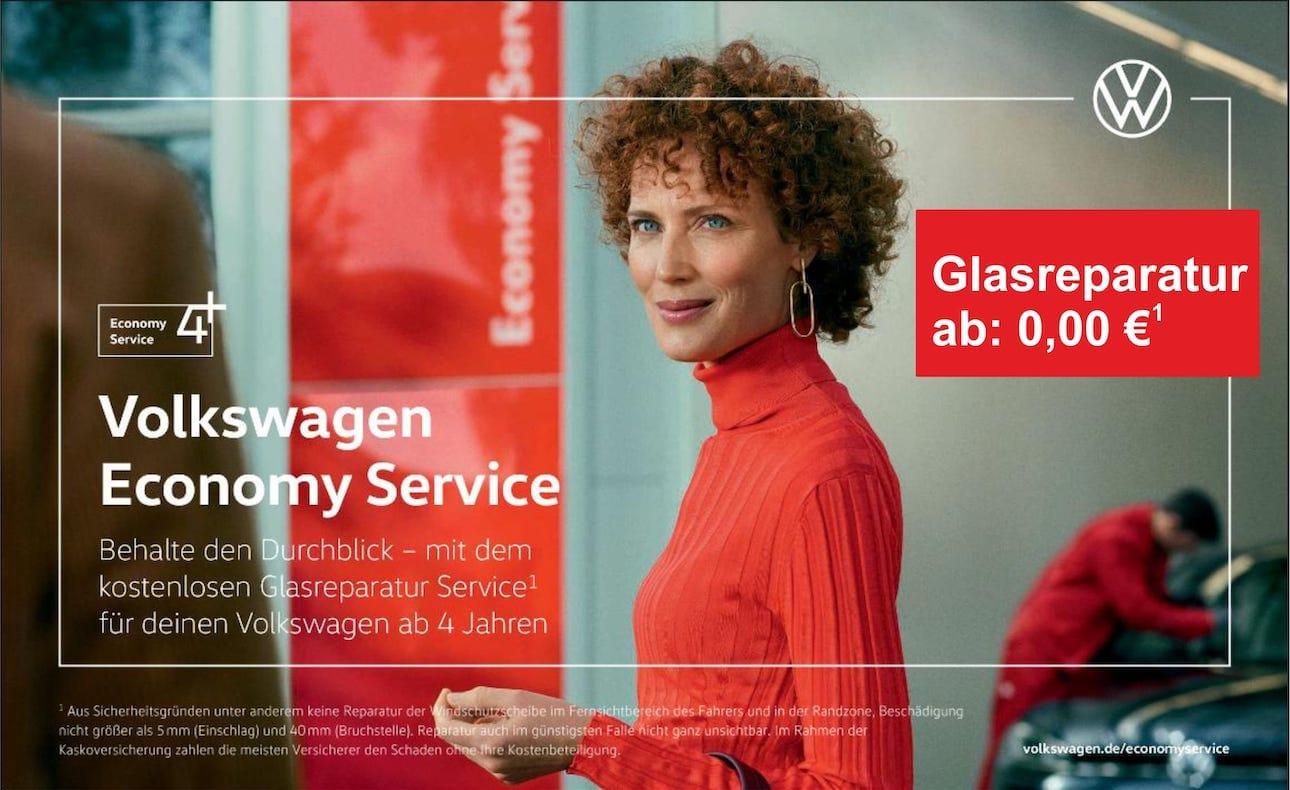 Image for Behalte den Durchblick –<br>mit dem kostenlosen Glasreparatur Service¹<br>für  Deinen Volkswagen ab 4 Jahren.